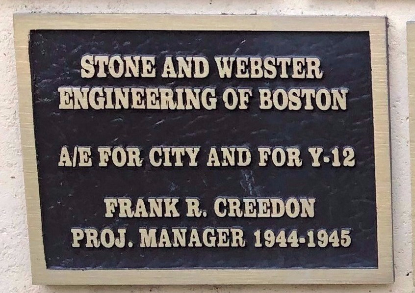 Manhattan Project plaques at Oak Ridge, TN